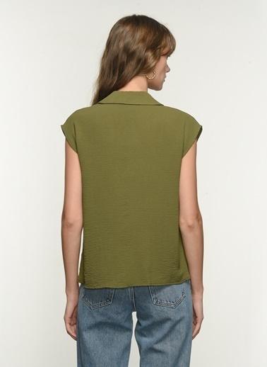 NGSTYLE Kadın Ceket Yaka Gömlek NGKSS21GM0012 Haki